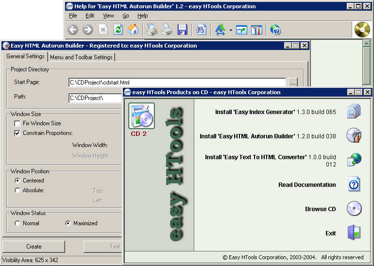Easy HTML Autorun Builder 1.6.0 software screenshot