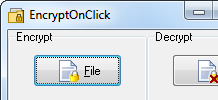 EncryptOnClick 2.0.3.0 software screenshot