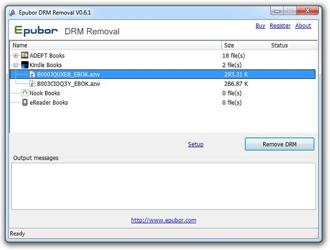 Epubor All DRM Removal 1.0.15.627 software screenshot