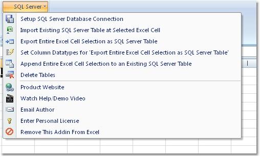 Excel MS SQL Server Import, Export & Convert Software 7.0 software screenshot