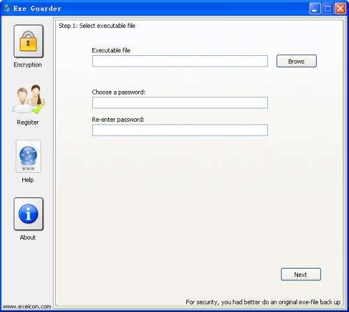 Exe Guarder 4.1144 software screenshot