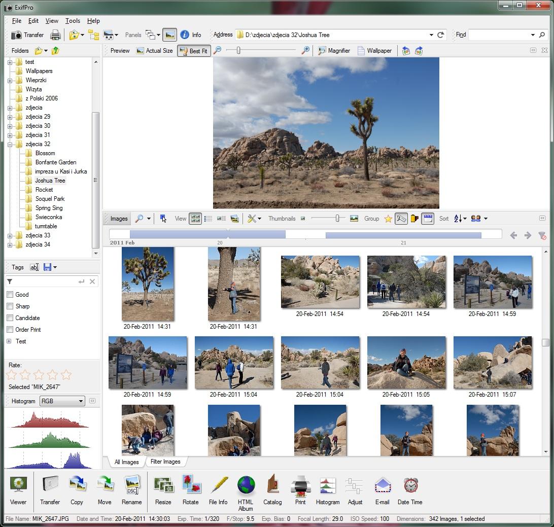 ExifPro 2.1.0 software screenshot