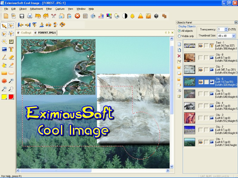 EximiousSoft Cool Image 3.30 software screenshot