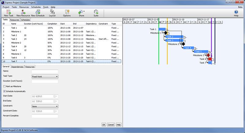 Express Project 1.05 Beta software screenshot