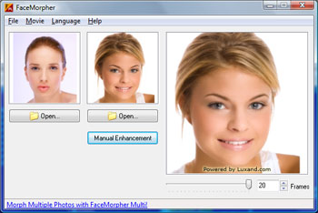FaceMorpher Lite 2.5 software screenshot