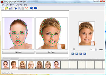FaceMorpher 2.51 software screenshot