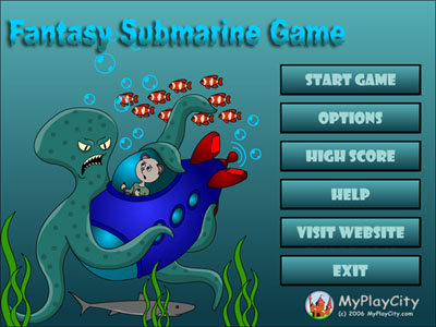 Fantasy Submarine Game 3.1 software screenshot