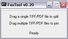 FaxTool 0.20 software screenshot