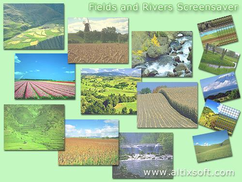 Fields and Rivers Screensaver 1.0 software screenshot