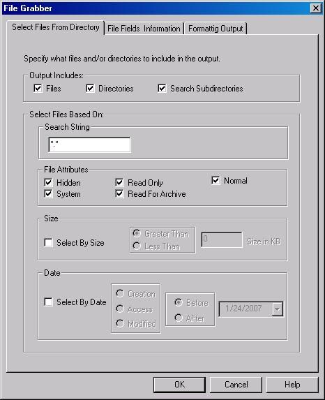 File Grabber 2.02 software screenshot