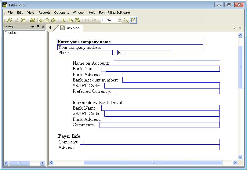 Filler Pilot 2.40 software screenshot