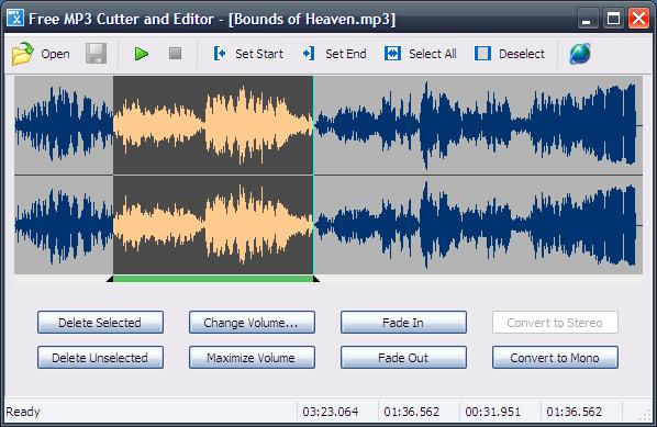 Free MP3 Cutter and Editor 2.8.0.575 software screenshot