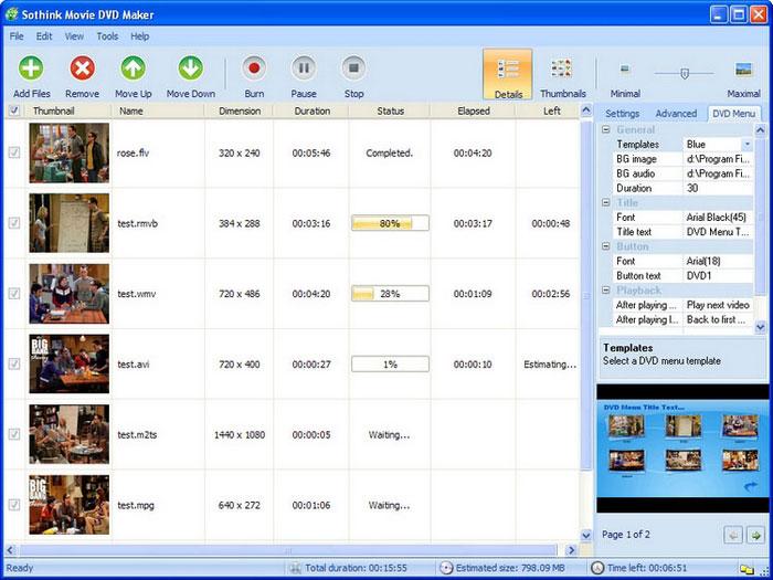 Sothink Movie DVD Maker 3.8 Build 27047 software screenshot