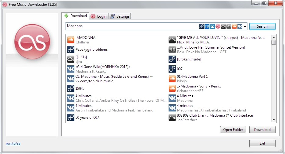 Free Music Downloader 1.64 software screenshot