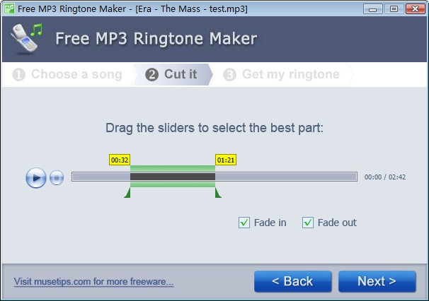 Free Ringtone Maker 2.5.0.569 software screenshot