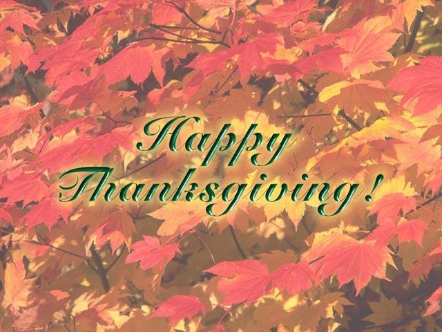 Free Thanksgiving Screen Saver 1.0 software screenshot