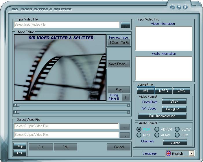 Free Video Cutter and Splitter Indepth 1.8.0.5 software screenshot