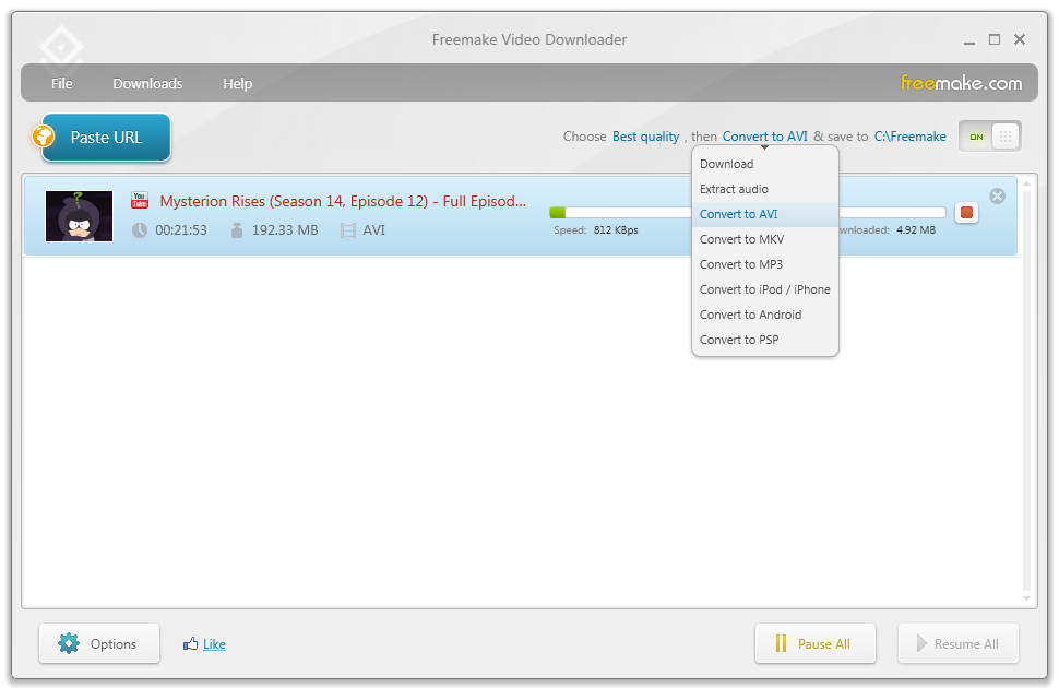 Freemake Video Downloader 3.8.0.40 software screenshot