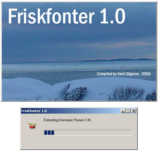 Friskfonter 1 software screenshot