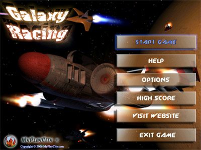 Galaxy Racing 3.2 software screenshot
