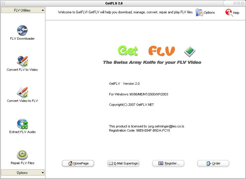 GetFLV 9.96.868 software screenshot