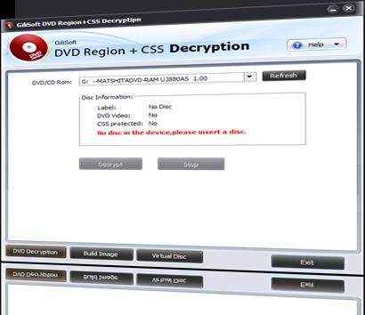 GiliSoft DVD CSS Decryption 2.8.0 software screenshot