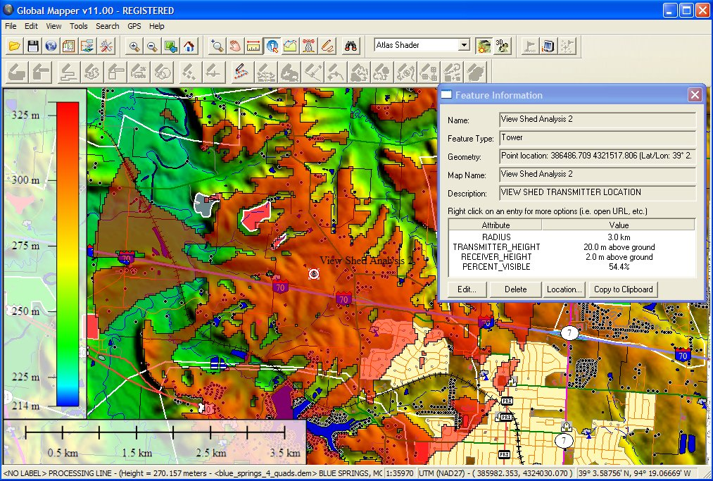 Global Mapper 18.2 b052417 software screenshot