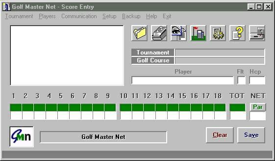 Golf Master Net 2.1 software screenshot