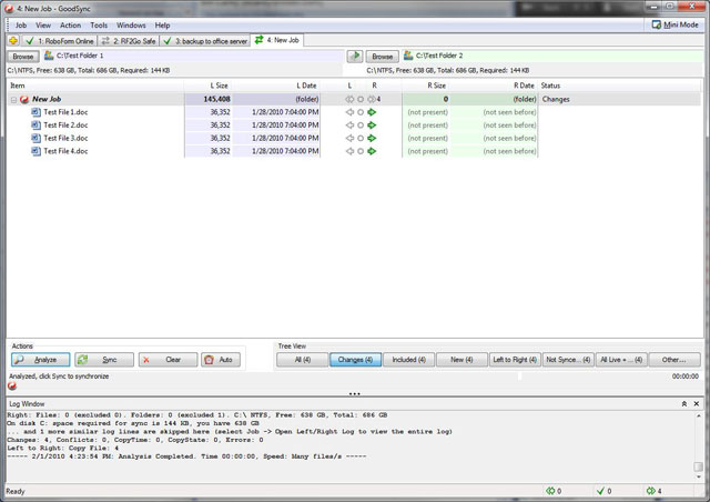 GoodSync 10.5.1.9 software screenshot