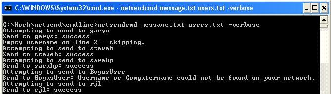 Group Net Send 1.01 software screenshot