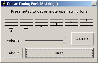 Guitar Tuning Fork 2006.07 software screenshot