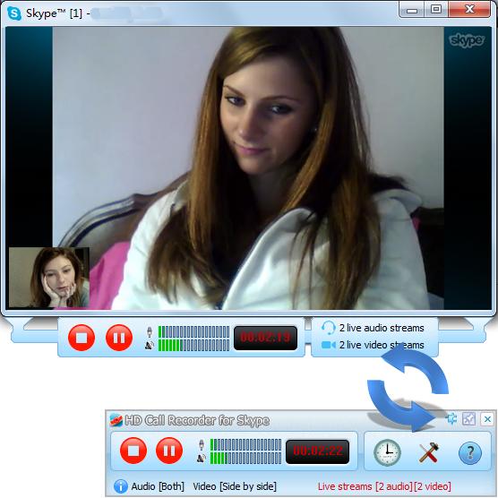 HD Call Recorder for Skype 6.7.65 software screenshot