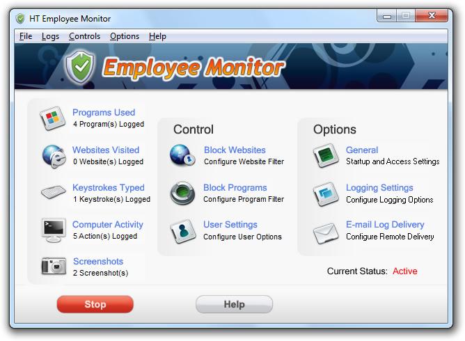 HT Employee Monitor 11.1.5 software screenshot