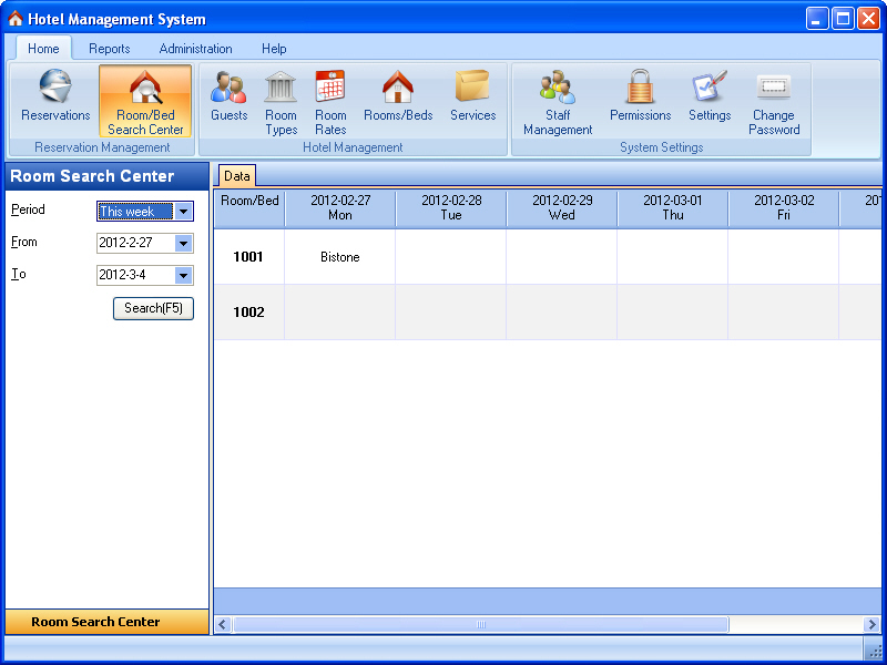 Hotel Management System 6.86.6.86.268.710 software screenshot