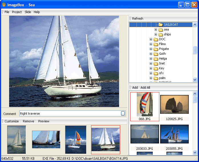 ImageBox 1.5 software screenshot