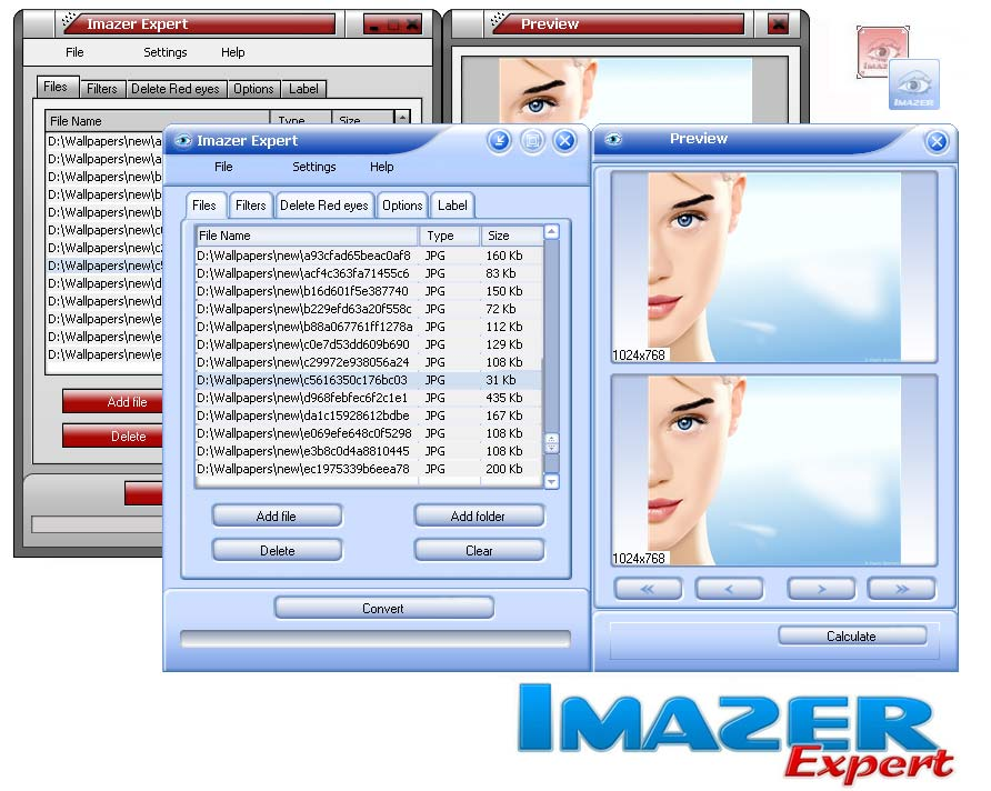Imazer Expert 1.4 software screenshot