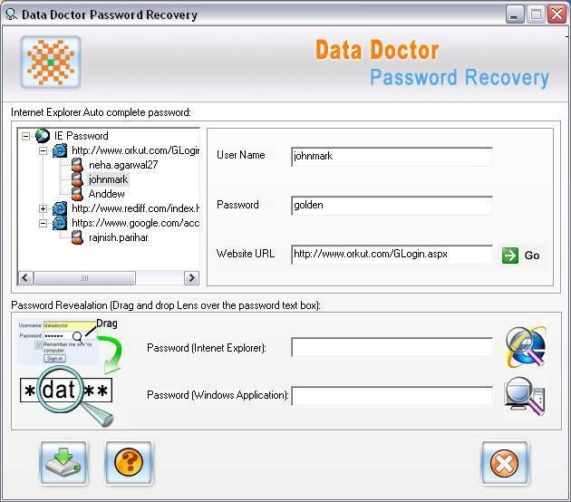 Instant Messenger Password Recovery 4.0.1.5 software screenshot