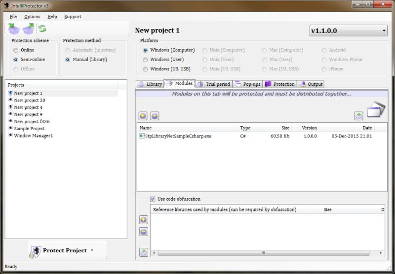 IntelliProtector 3.29 software screenshot