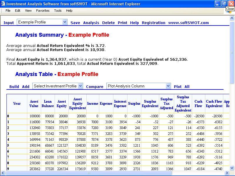 Investment Analysis Software 10 software screenshot