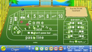 Island Craps 1.0 software screenshot
