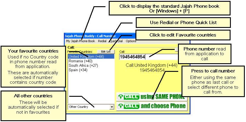 Jajah Phone Buddy V1.0.25 software screenshot