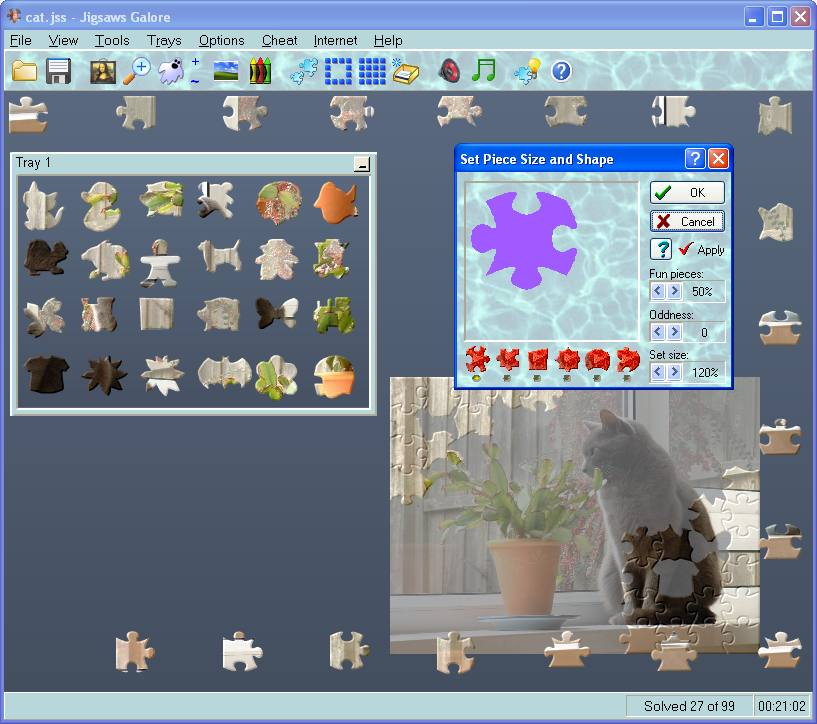Jigsaws Galore 6.13 software screenshot