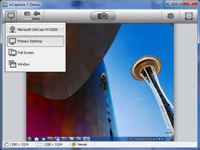 JxCapture 3.4 software screenshot