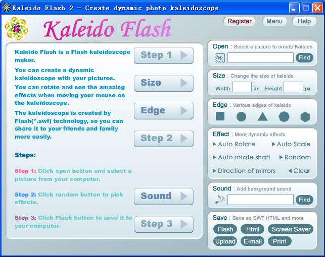 Kaleido Flash 2.3 software screenshot