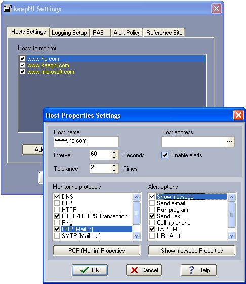 KeepNI 1.2.5 software screenshot