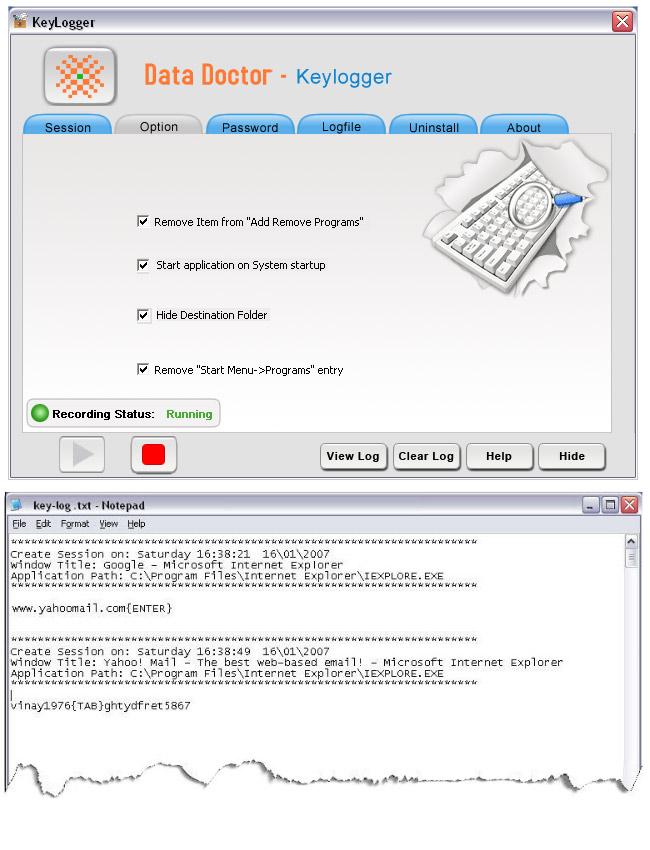 Keyboard Monitoring Tool 3.0.1.5 software screenshot