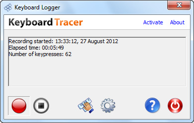 Keyboard Tracer (formerly Keyboard Logger) 2.9.0.0 software screenshot