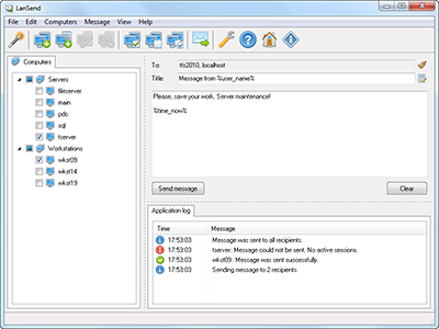 LanSend 2.6.0.63 software screenshot