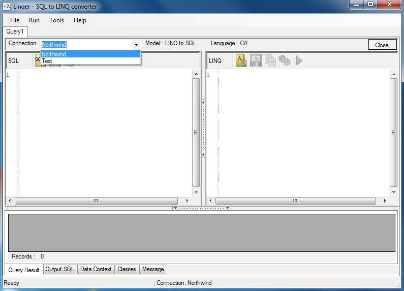 Linqer 4.6.0 software screenshot