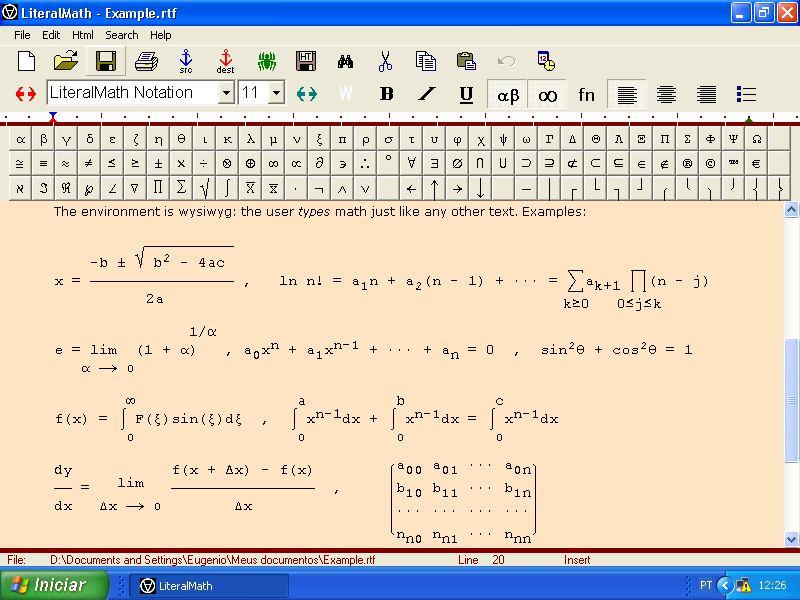 LiteralMath 2.5 software screenshot